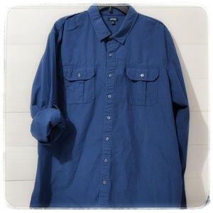 Like New! XXL Men's Button Down w 3/4 sleeve 2XL